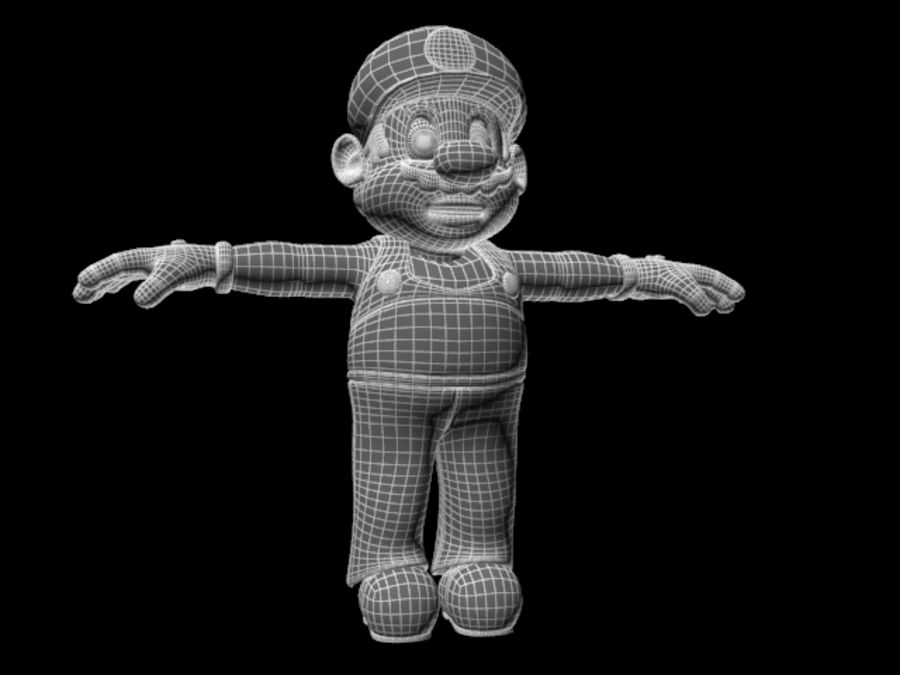 Super Mario Video Game Character royalty-free 3d model - Preview no. 5