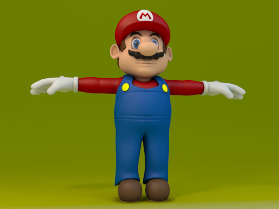 Super Mario Video Game Character royalty-free 3d model - Preview no. 2