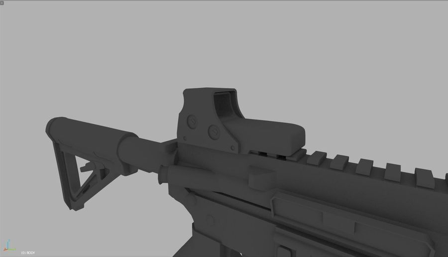 Assault Rifle royalty-free 3d model - Preview no. 4
