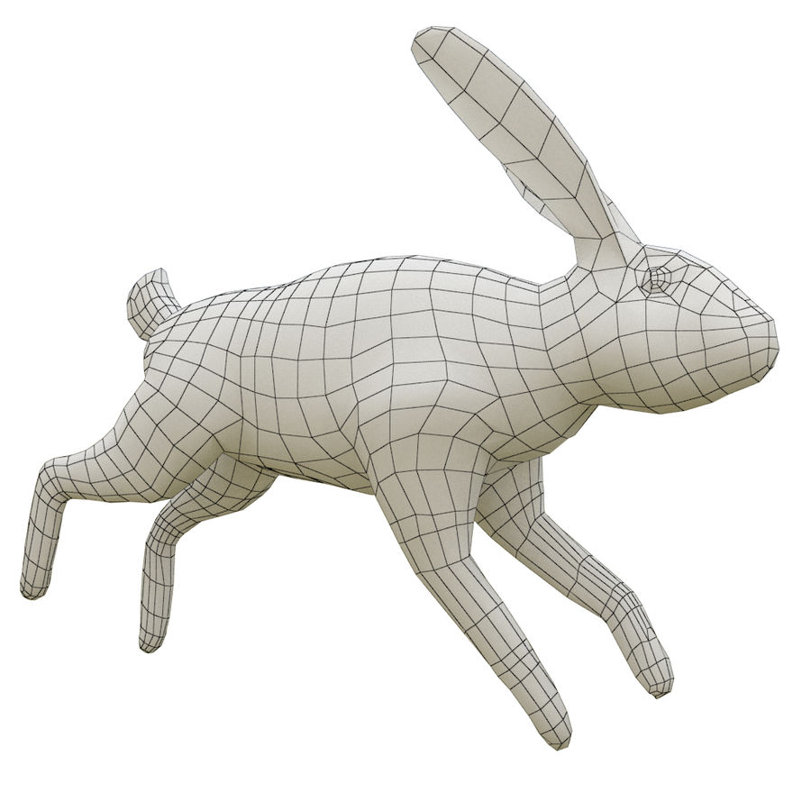 Hare_animated royalty-free 3d model - Preview no. 8