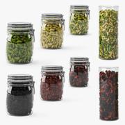 Jar of beans 3d model