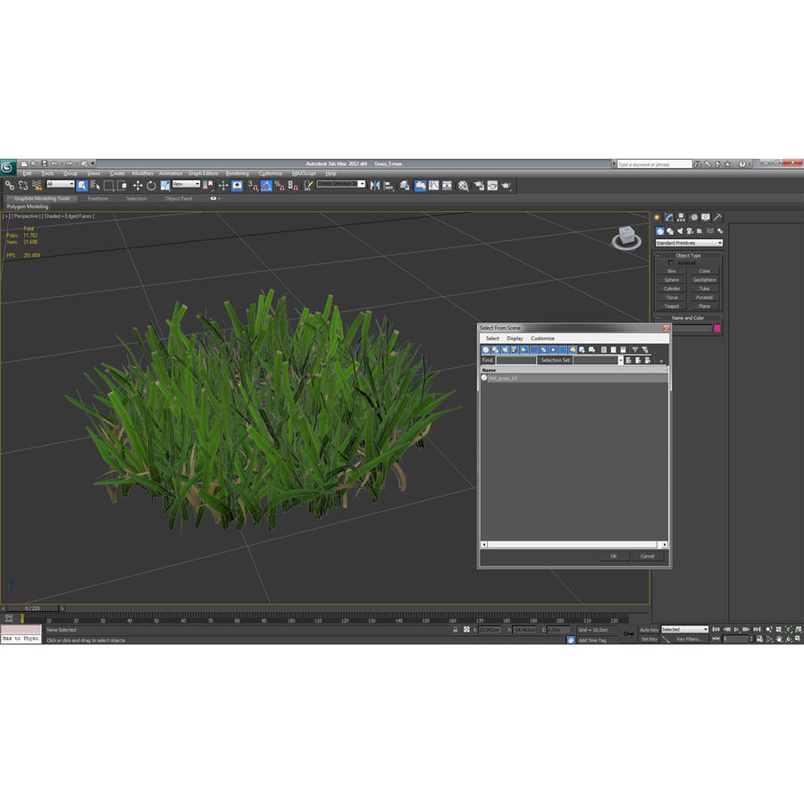 Grass 5 royalty-free 3d model - Preview no. 13