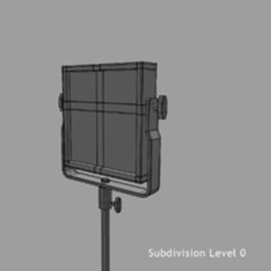 Pannello luminoso a LED royalty-free 3d model - Preview no. 16