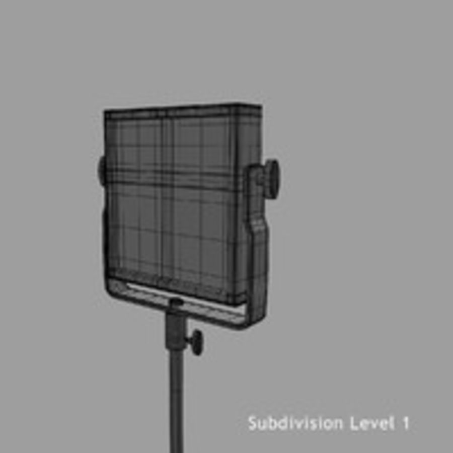 Pannello luminoso a LED royalty-free 3d model - Preview no. 17
