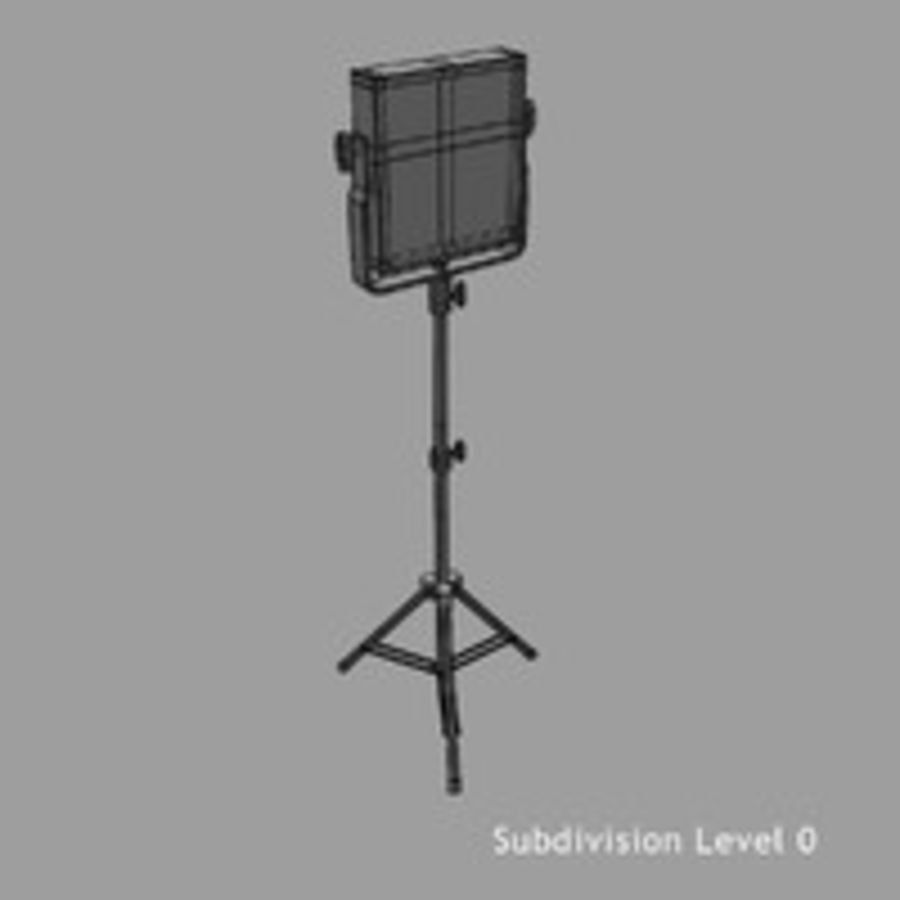 Pannello luminoso a LED royalty-free 3d model - Preview no. 12