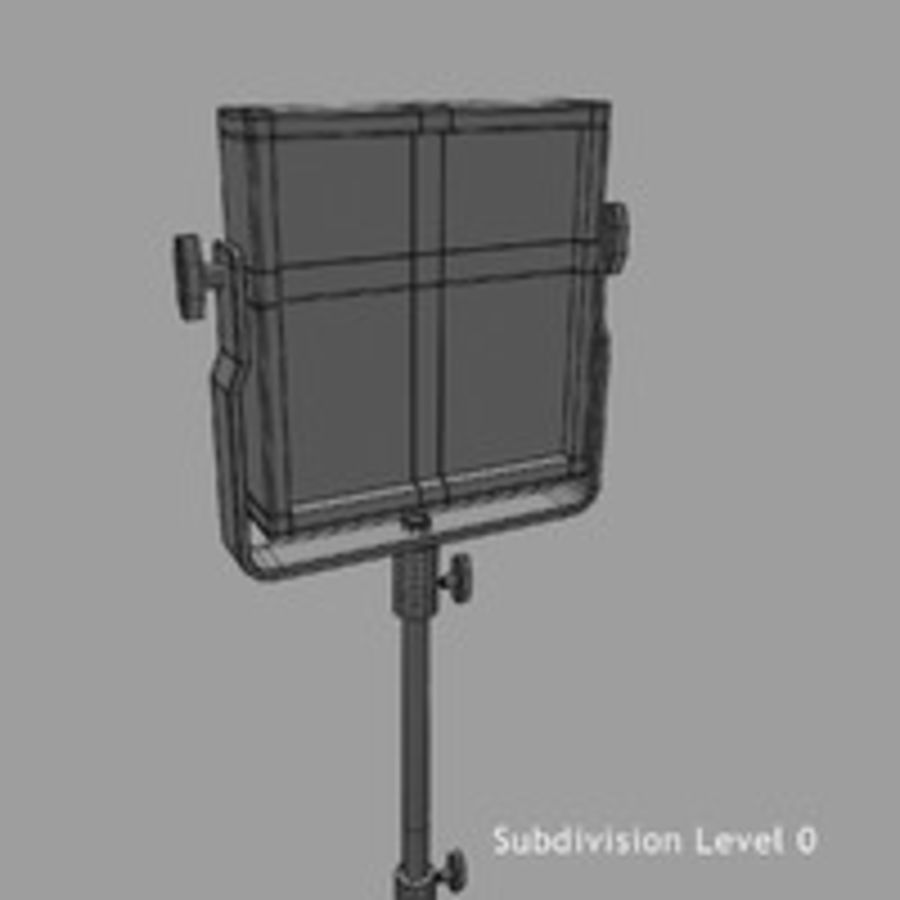 Pannello luminoso a LED royalty-free 3d model - Preview no. 14