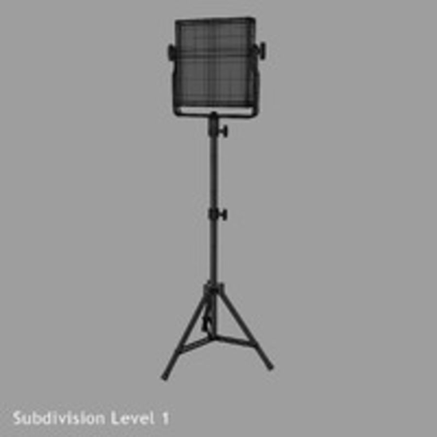 Pannello luminoso a LED royalty-free 3d model - Preview no. 10