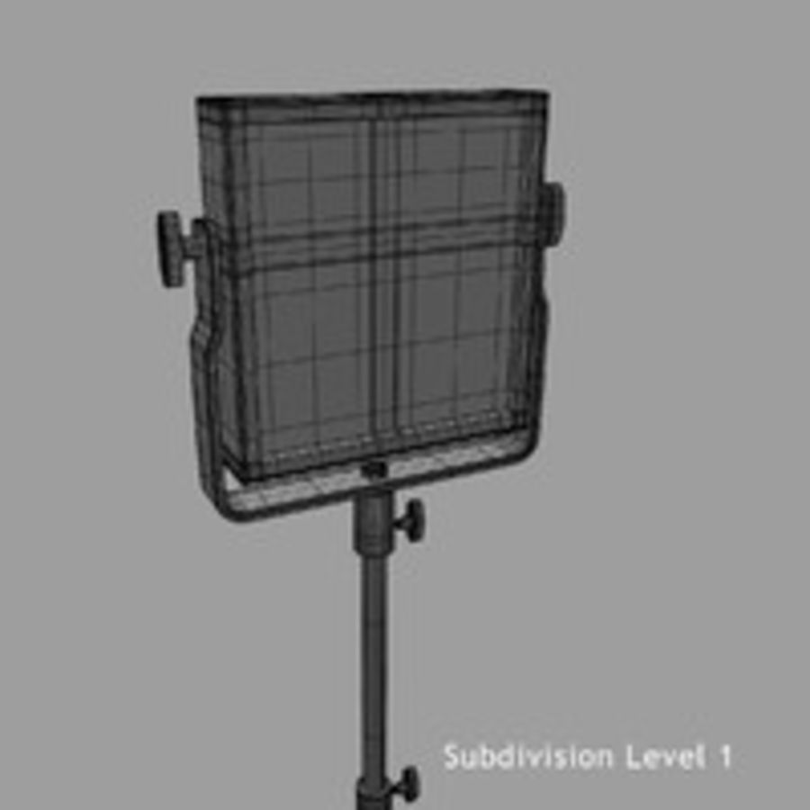 Pannello luminoso a LED royalty-free 3d model - Preview no. 15