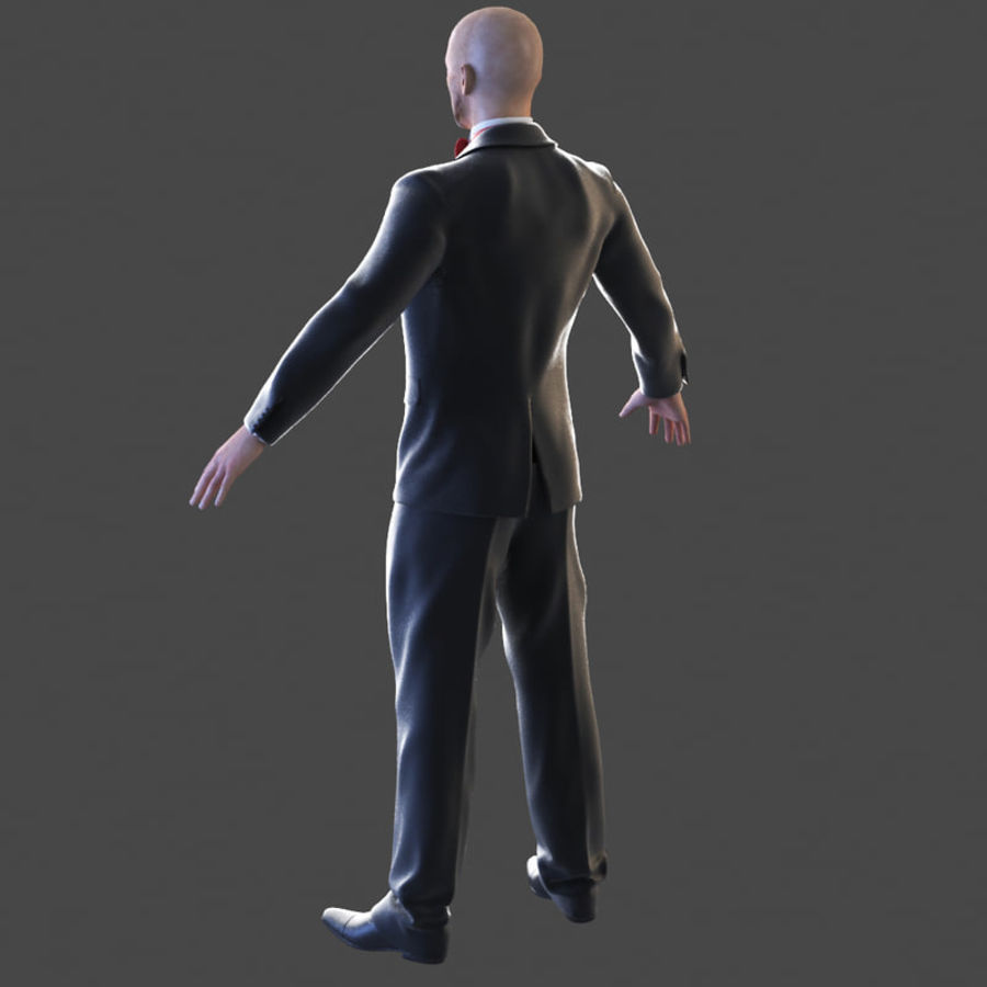 Tuxedo man royalty-free 3d model - Preview no. 2
