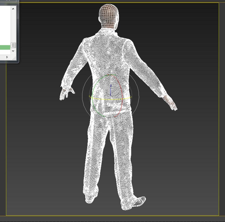 Tuxedo man royalty-free 3d model - Preview no. 7
