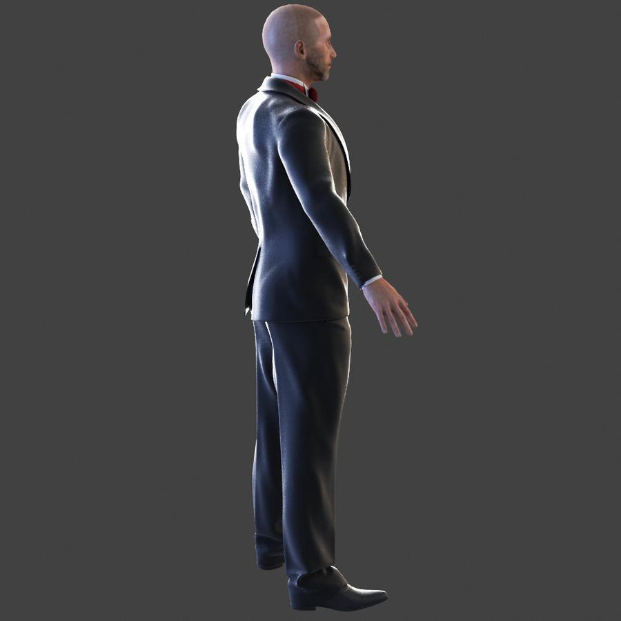 Tuxedo man royalty-free 3d model - Preview no. 3