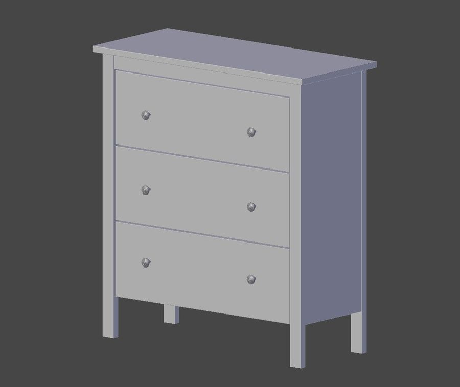 Chest of Drawers Ikea royalty-free 3d model - Preview no. 6