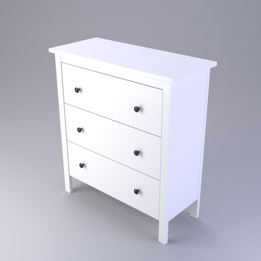 Chest of Drawers Ikea royalty-free 3d model - Preview no. 1