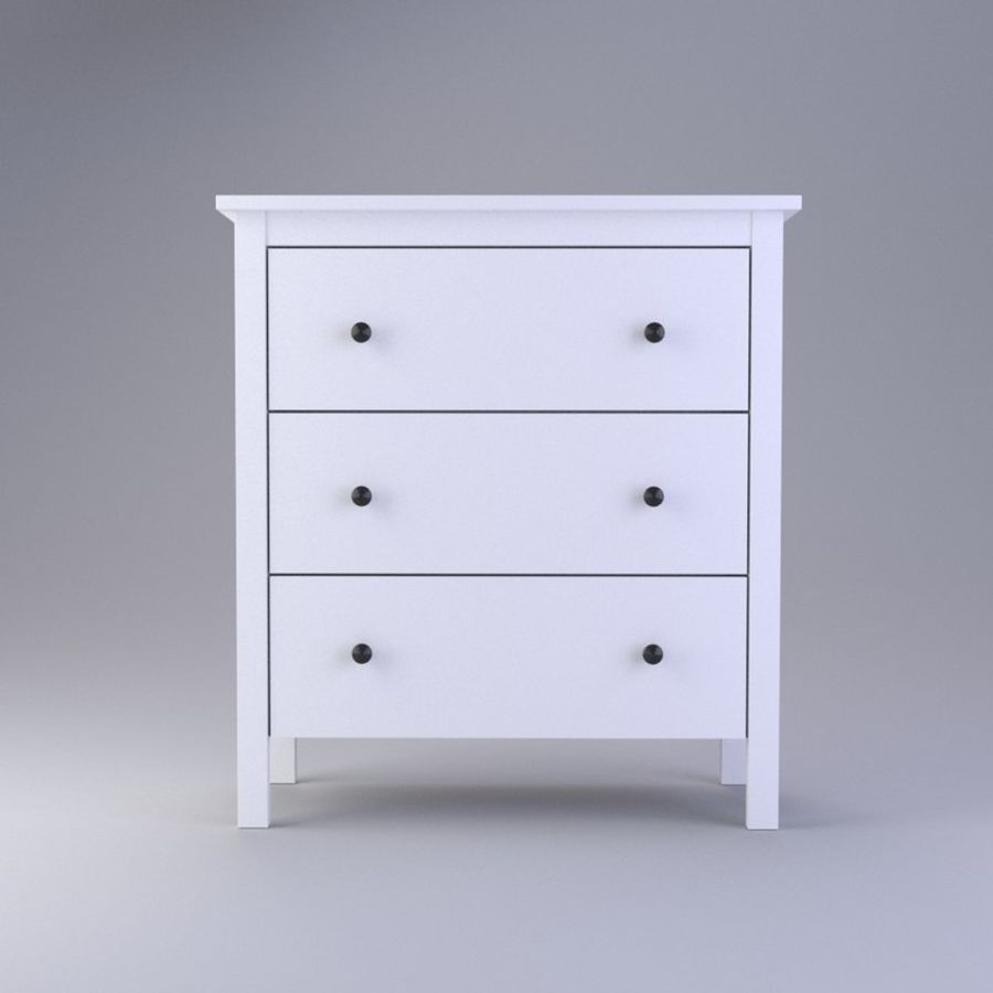 Chest of Drawers Ikea royalty-free 3d model - Preview no. 2