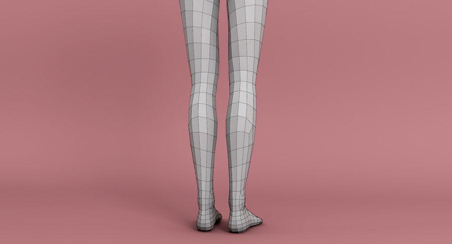 Female Base Mesh royalty-free 3d model - Preview no. 8
