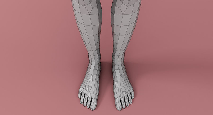 Female Base Mesh royalty-free 3d model - Preview no. 6