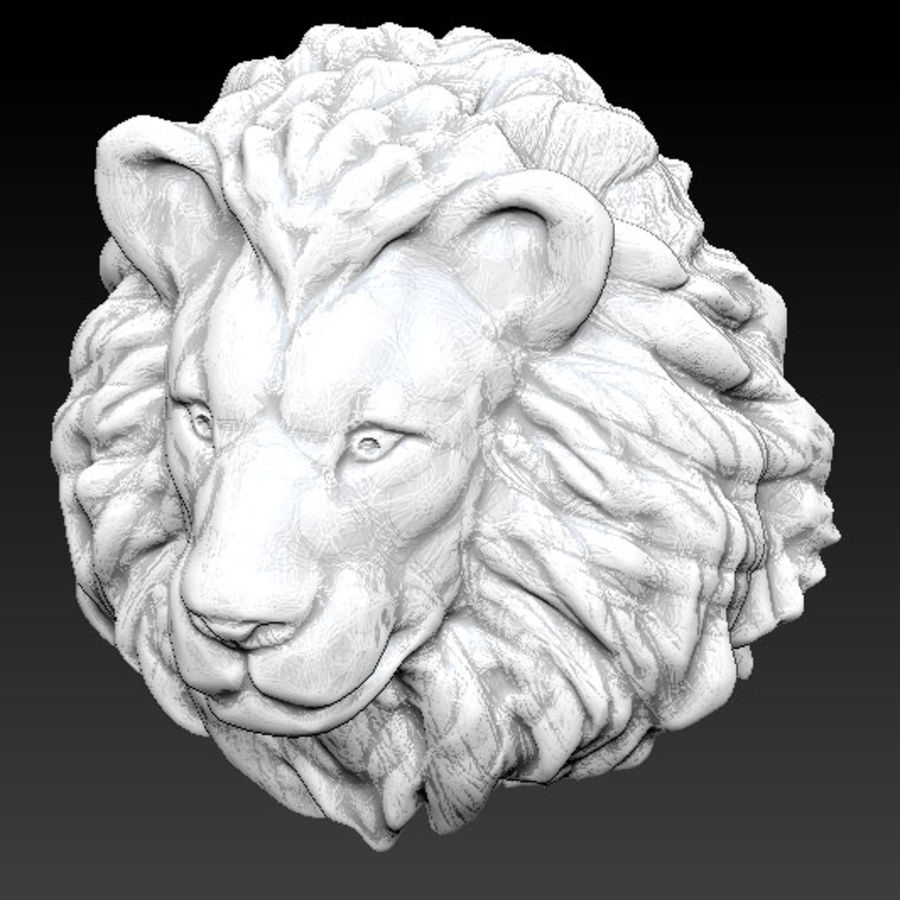 Lion head high royalty-free 3d model - Preview no. 1