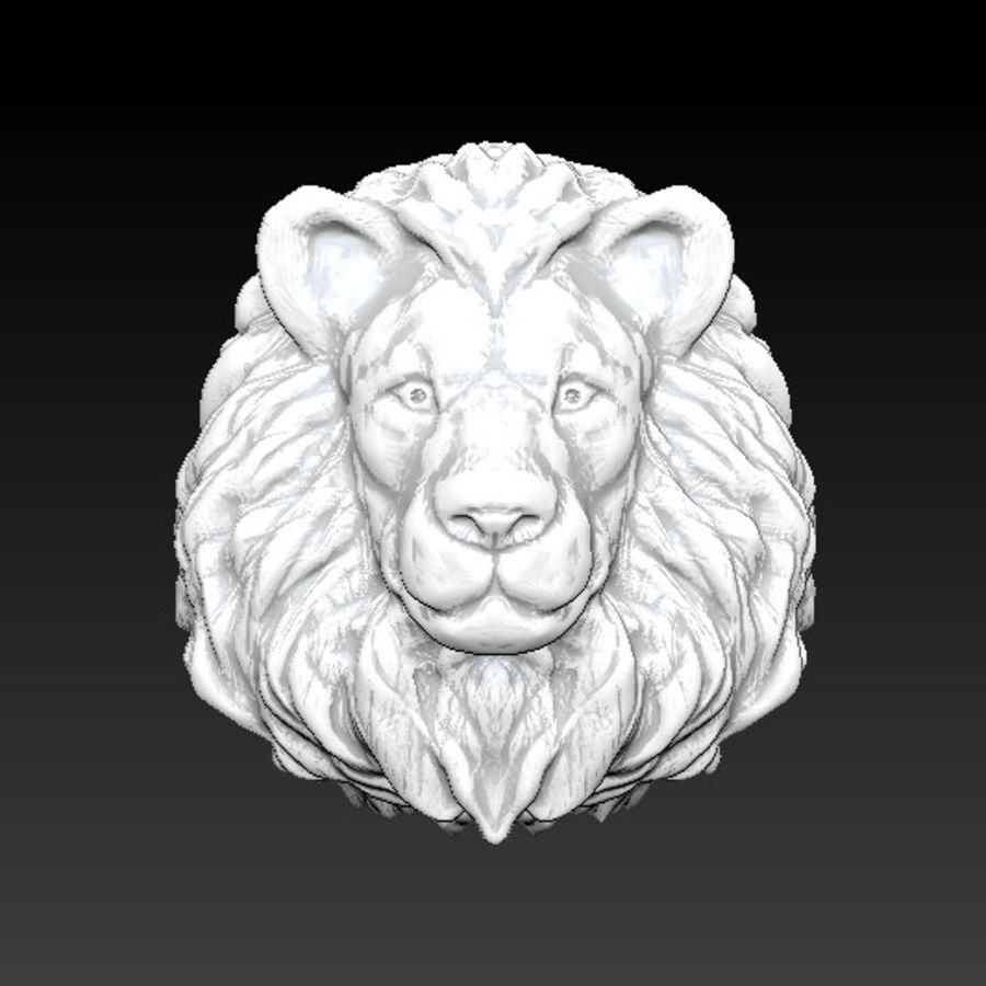 Lion head high royalty-free 3d model - Preview no. 2