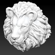 Lion head high 3d model