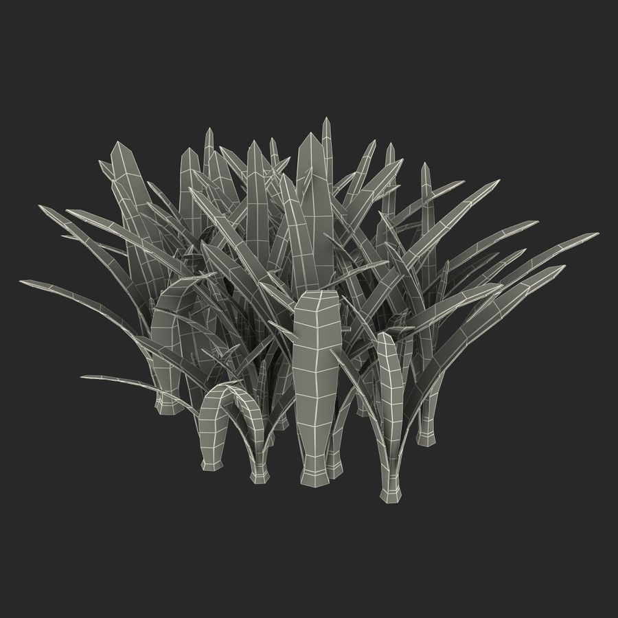 Grass 3 royalty-free 3d model - Preview no. 15