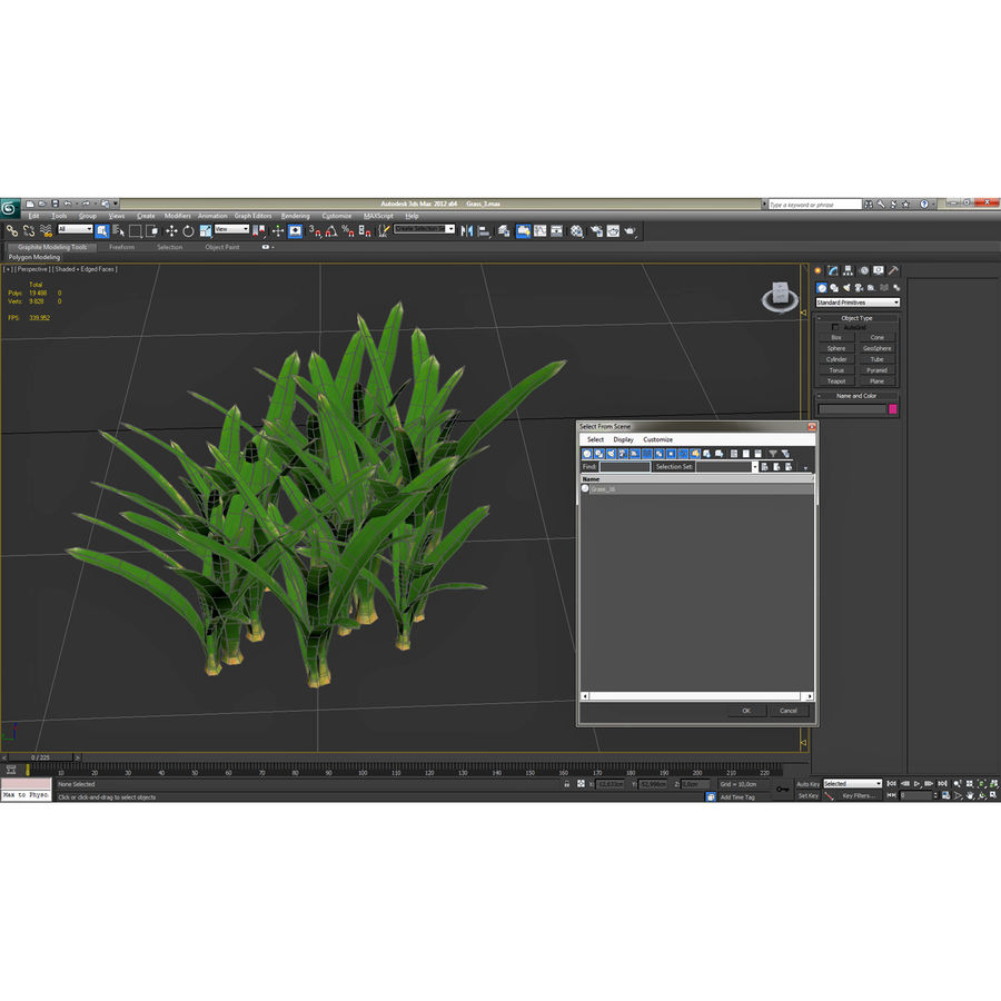 Grass 3 royalty-free 3d model - Preview no. 14