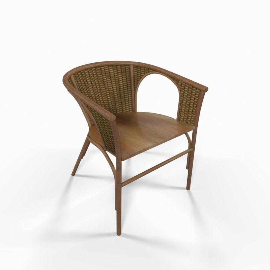 Chaise En Osier Bois Royalty Free 3d Model