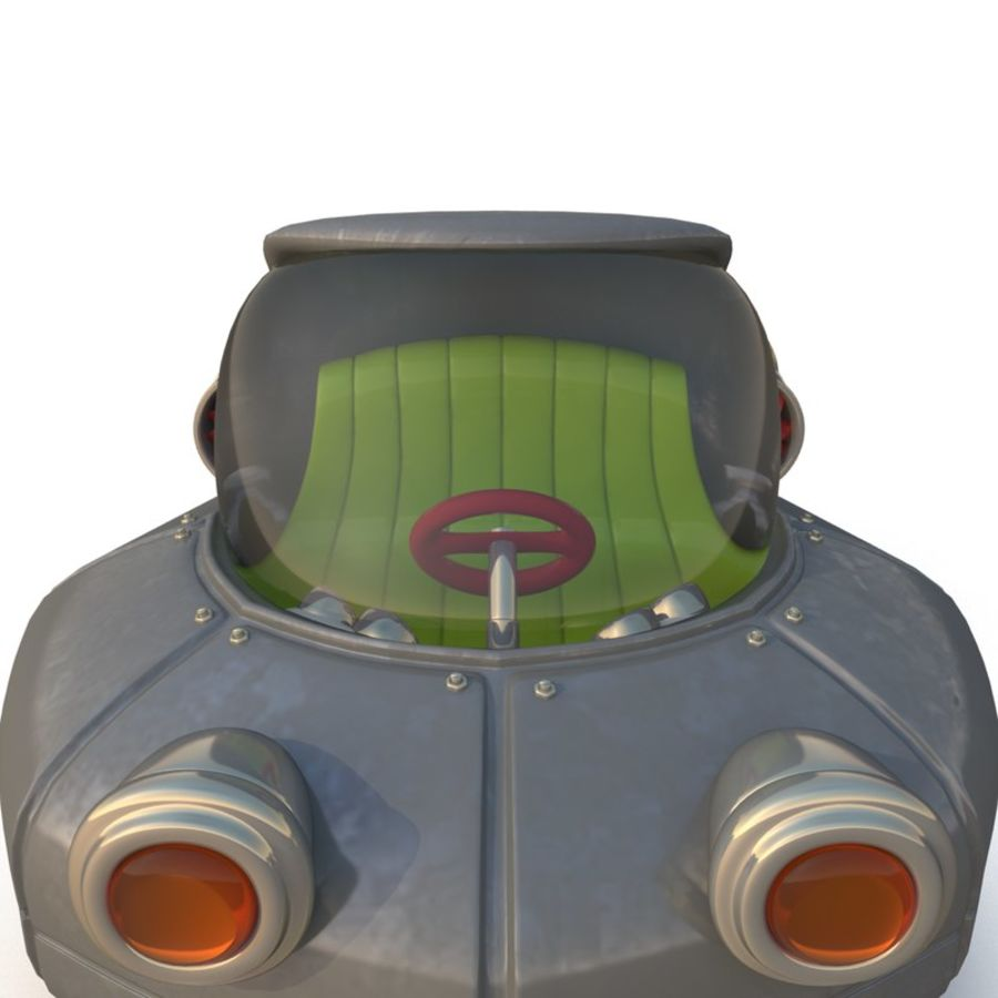 Cartoon Rocket Ship royalty-free 3d model - Preview no. 8
