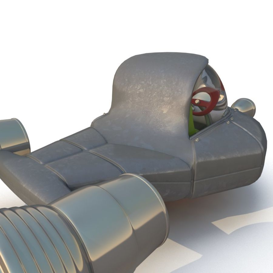 Cartoon Rocket Ship royalty-free 3d model - Preview no. 10