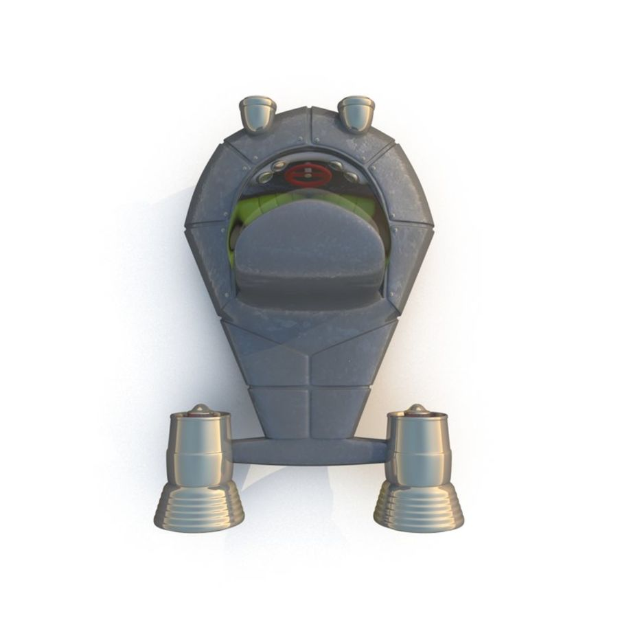 Cartoon Rocket Ship royalty-free 3d model - Preview no. 14