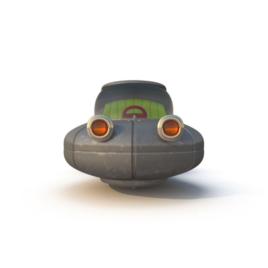Cartoon Rocket Ship royalty-free 3d model - Preview no. 12