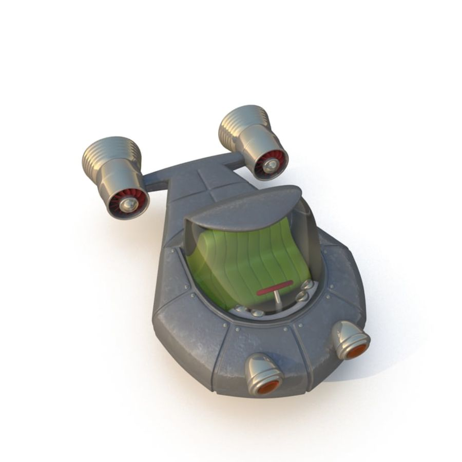 Cartoon Rocket Ship royalty-free 3d model - Preview no. 1