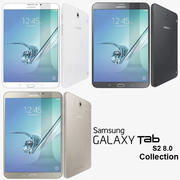 Samsung Galaxy Tab S2 8.0 collection 3d model