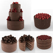 Chocolate Cakes Collection 3d model
