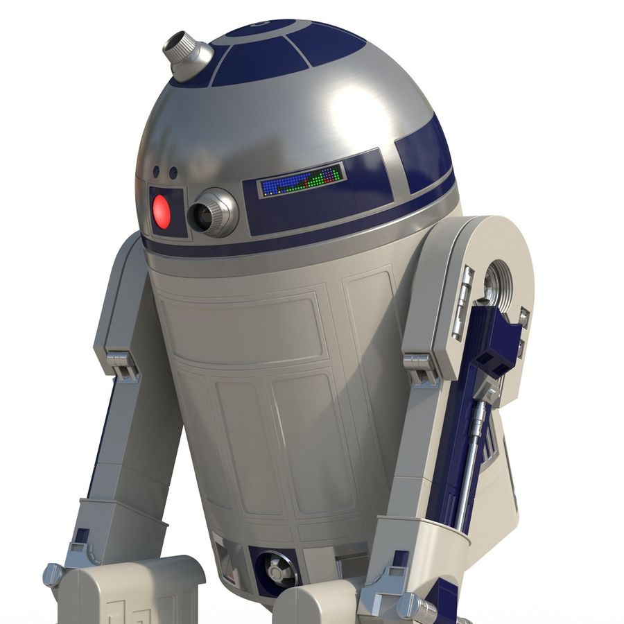 Star Wars Character R2 D2 3D Model royalty-free 3d model - Preview no. 16