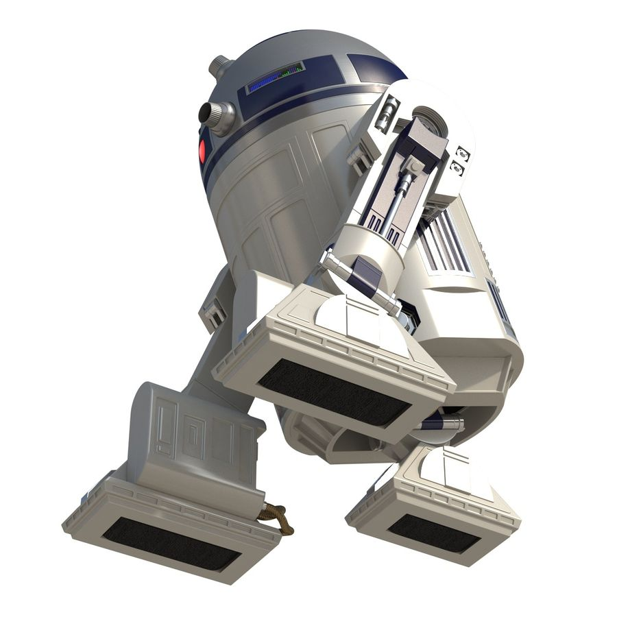 Star Wars Character R2 D2 3D Model royalty-free 3d model - Preview no. 13