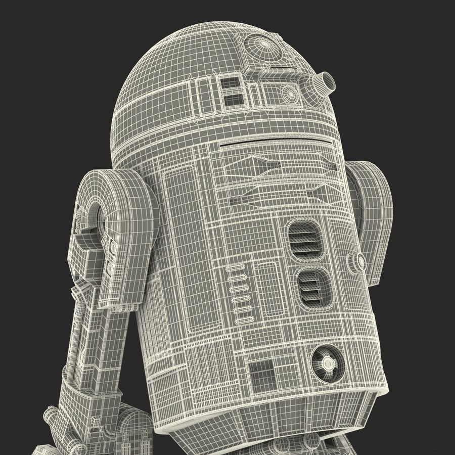 Star Wars Character R2 D2 3D Model royalty-free 3d model - Preview no. 37