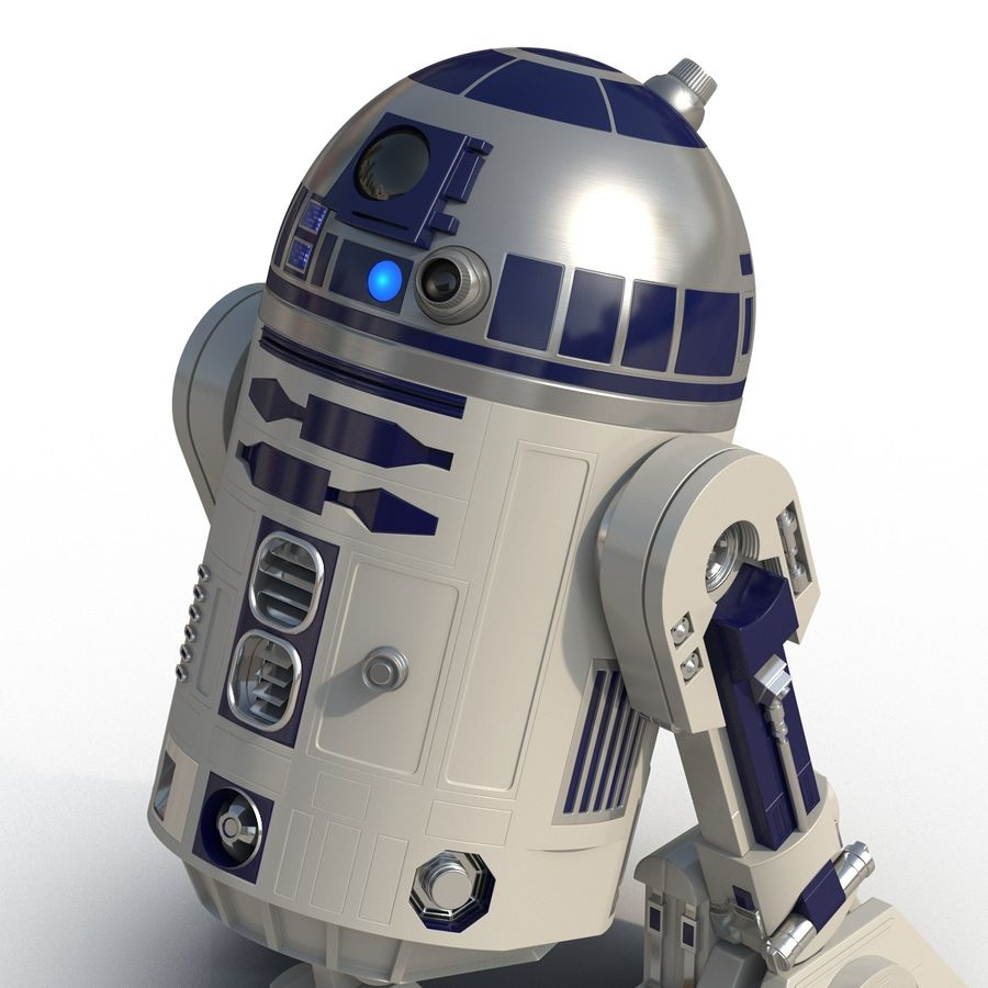 Star Wars Character R2 D2 3D Model royalty-free 3d model - Preview no. 15
