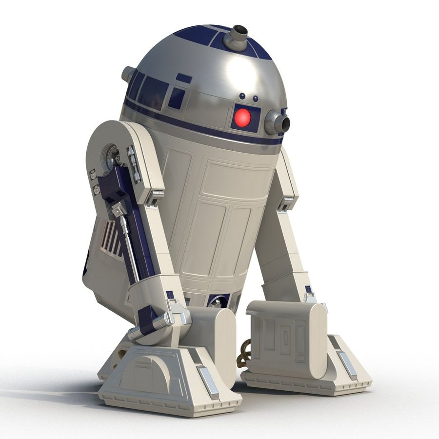 Star Wars Character R2 D2 3D Model royalty-free 3d model - Preview no. 8