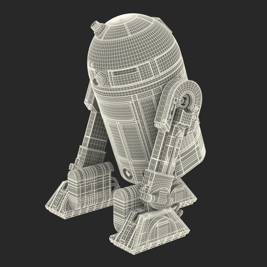 Star Wars Character R2 D2 3D Model royalty-free 3d model - Preview no. 33