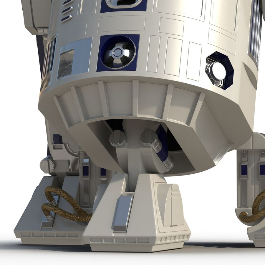 Star Wars Character R2 D2 3D Model royalty-free 3d model - Preview no. 23