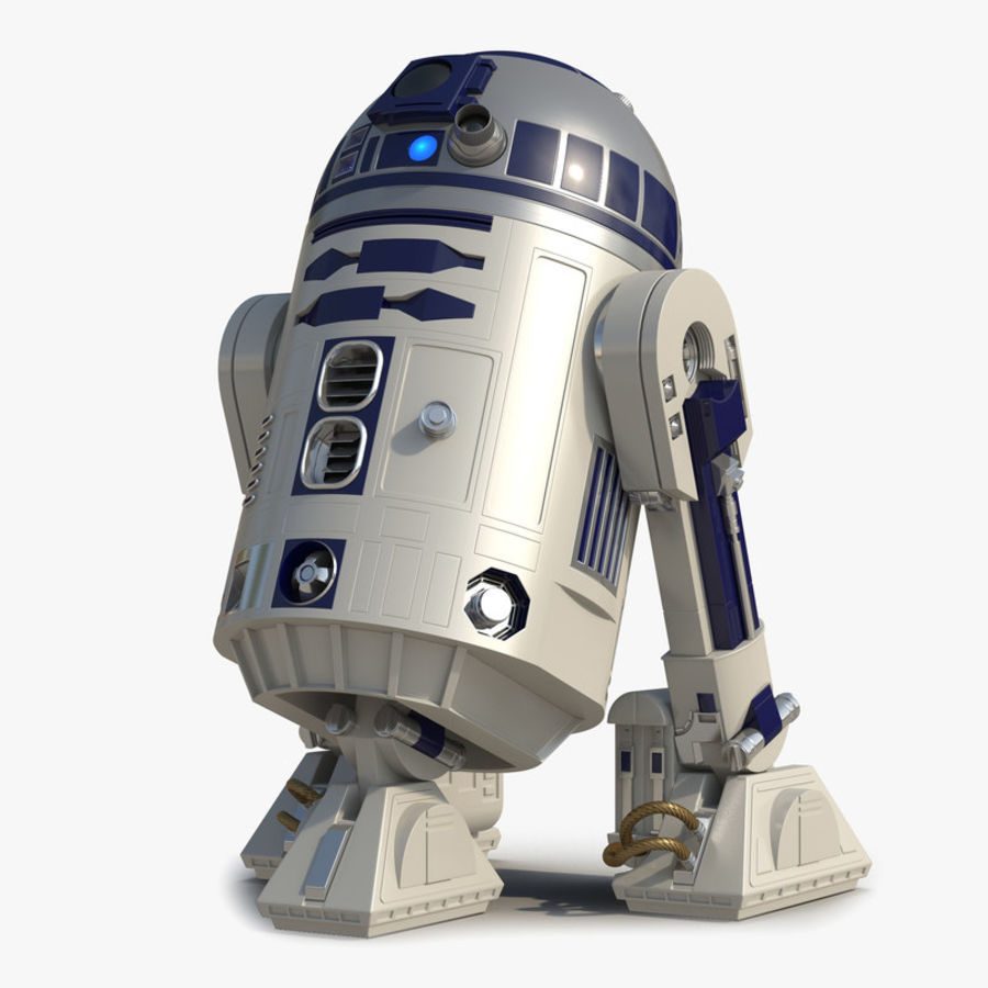 Star Wars Character R2 D2 3D Model royalty-free 3d model - Preview no. 1