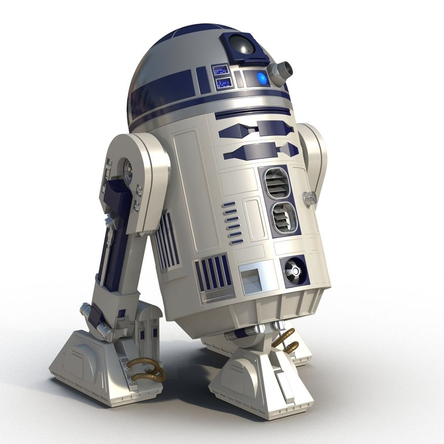 Star Wars Character R2 D2 3D Model royalty-free 3d model - Preview no. 4