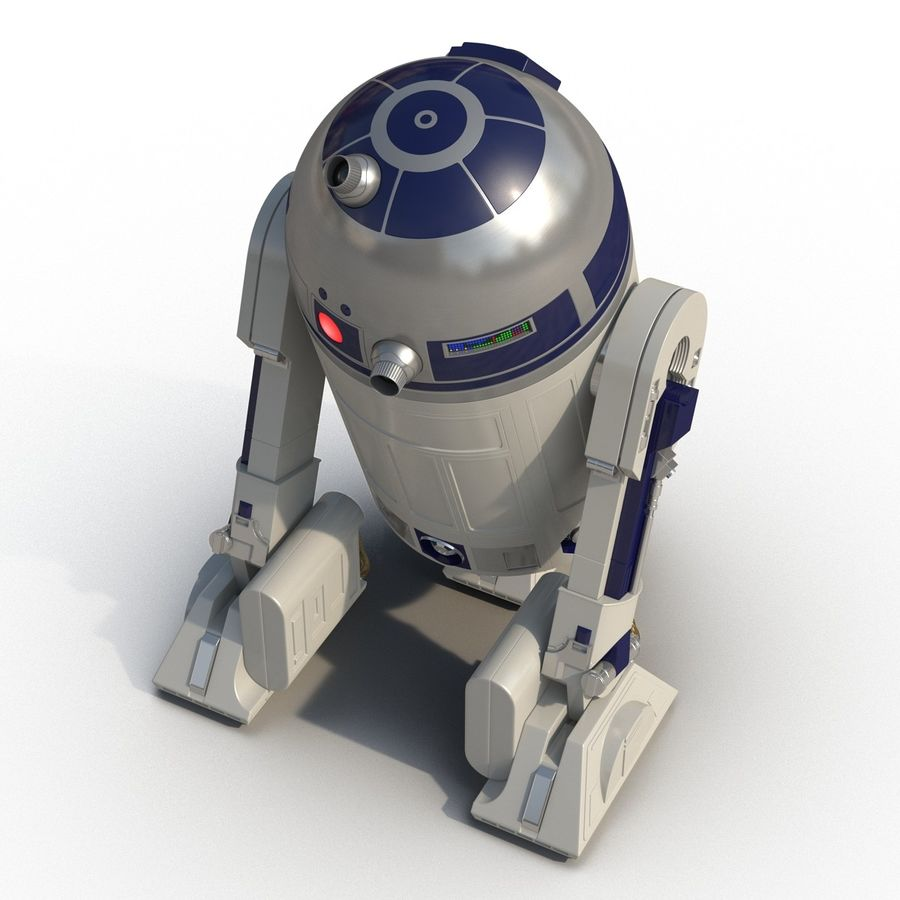 Star Wars Character R2 D2 3D Model royalty-free 3d model - Preview no. 10