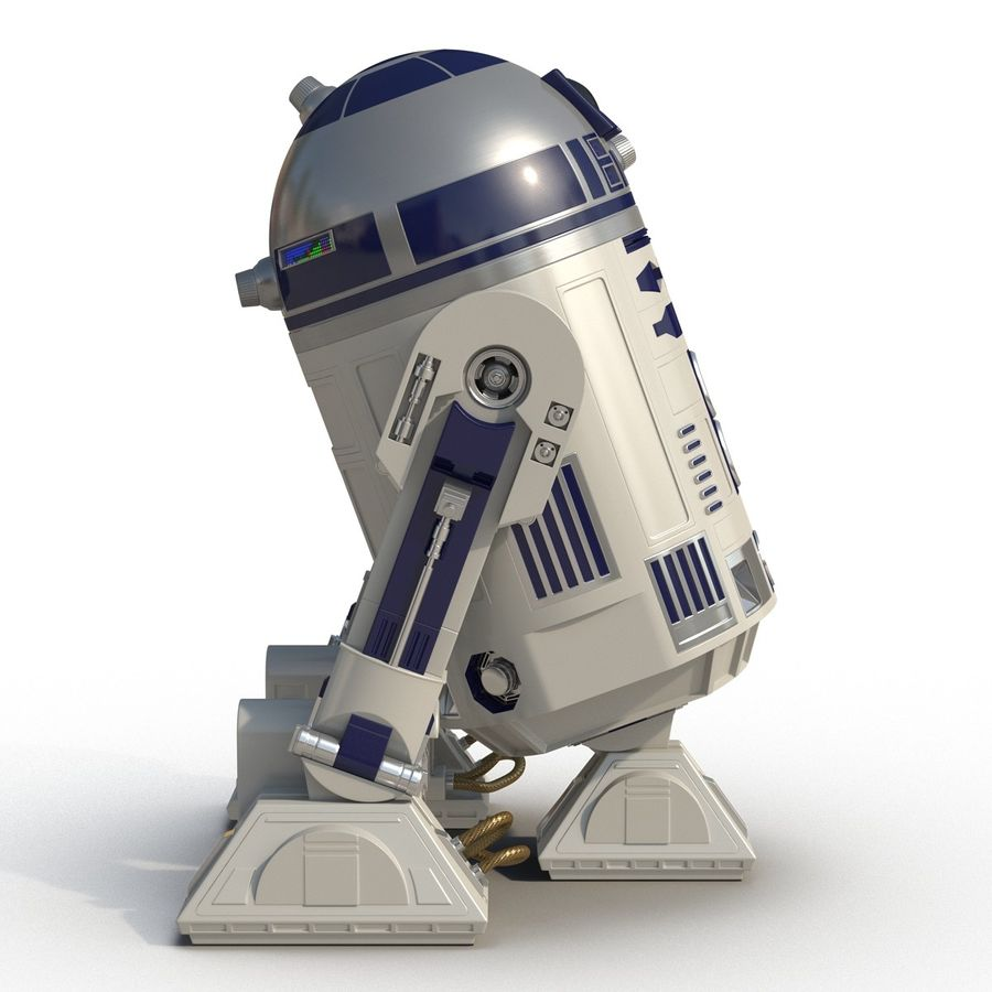 Star Wars Character R2 D2 3D Model royalty-free 3d model - Preview no. 5