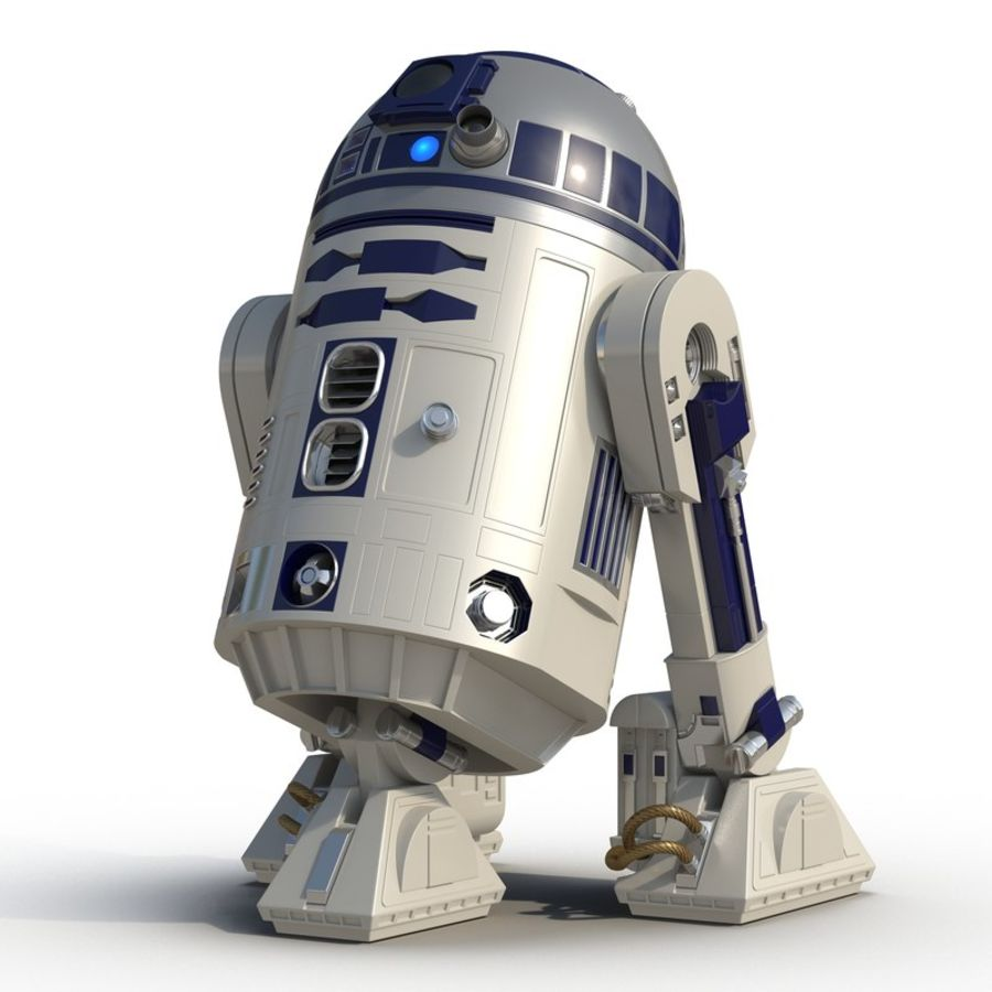 Star Wars Character R2 D2 3D Model royalty-free 3d model - Preview no. 2