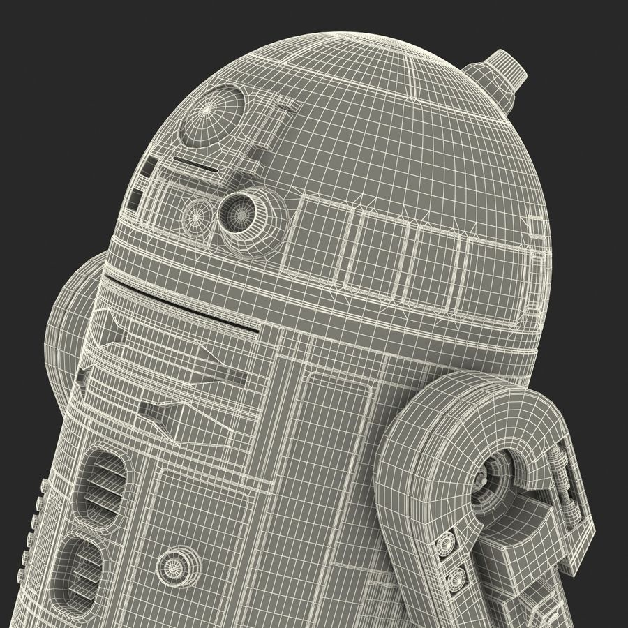 Star Wars Character R2 D2 3D Model royalty-free 3d model - Preview no. 41