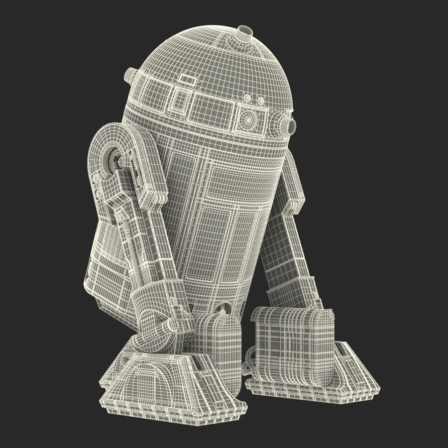 Star Wars Character R2 D2 3D Model royalty-free 3d model - Preview no. 34