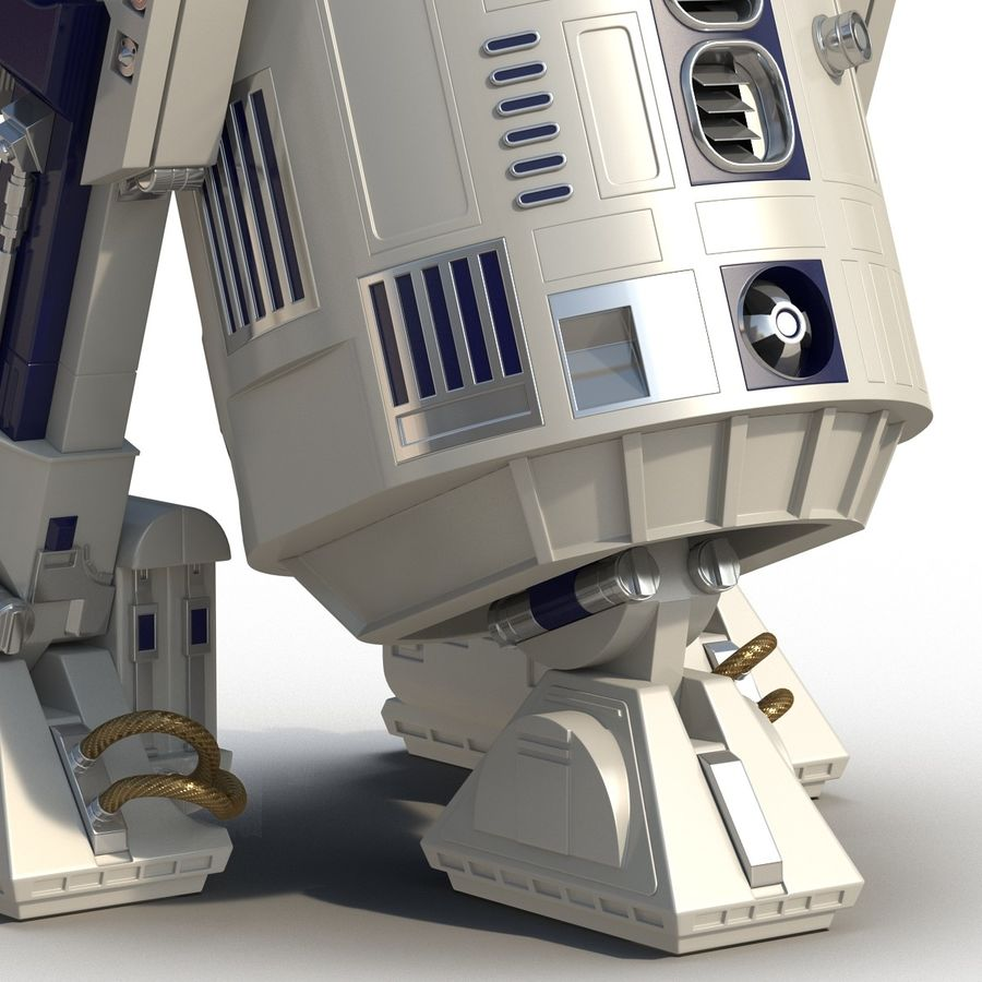 Star Wars Character R2 D2 3D Model royalty-free 3d model - Preview no. 21