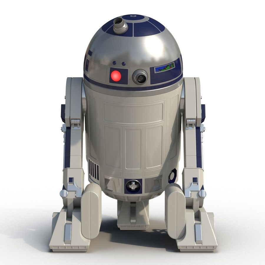 Star Wars Character R2 D2 3D Model royalty-free 3d model - Preview no. 7