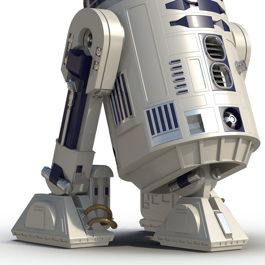 Star Wars Character R2 D2 3D Model royalty-free 3d model - Preview no. 17